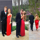 Charming Red Sexy Simple Popular Backless Charming Prom Dress, Evening Party Dress, PD0305 - SposaBridal