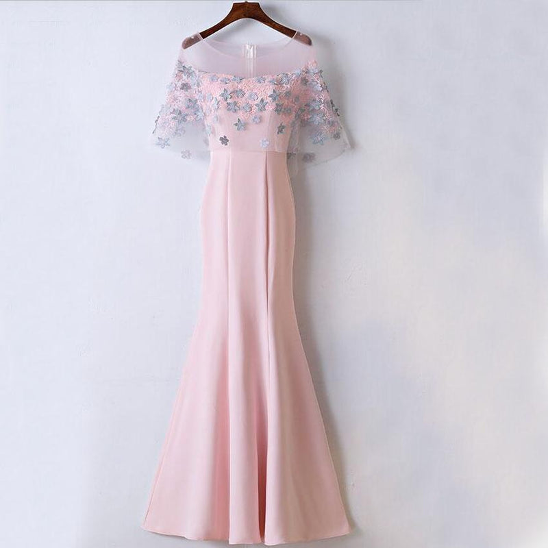 Affordable Unique New Design Pink Prom Dresses, Mermaid Popular Prom Dress for party,  PD0456