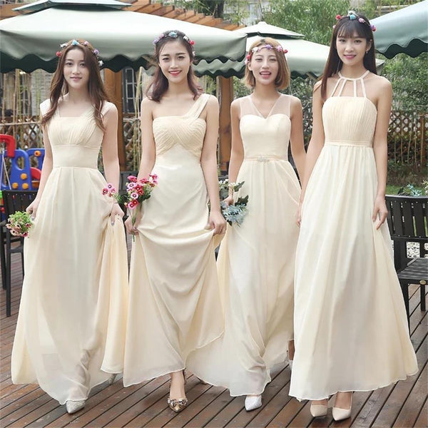 Mismatched Different Color and Style Beautiful Bridesmaid Dresses, Wedding Guest Dresses , PD0284