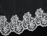 Embroidered Chapel Cathedral Lace Diamond Tulle Bridals Veils, Veils For Wedding , VD0001