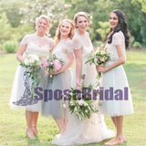 Cap Sleeves Lace Soft Free Custom Bridesmaid Dresses, Most Popular Bridesmaid Dress Online, PD0525 - SposaBridal