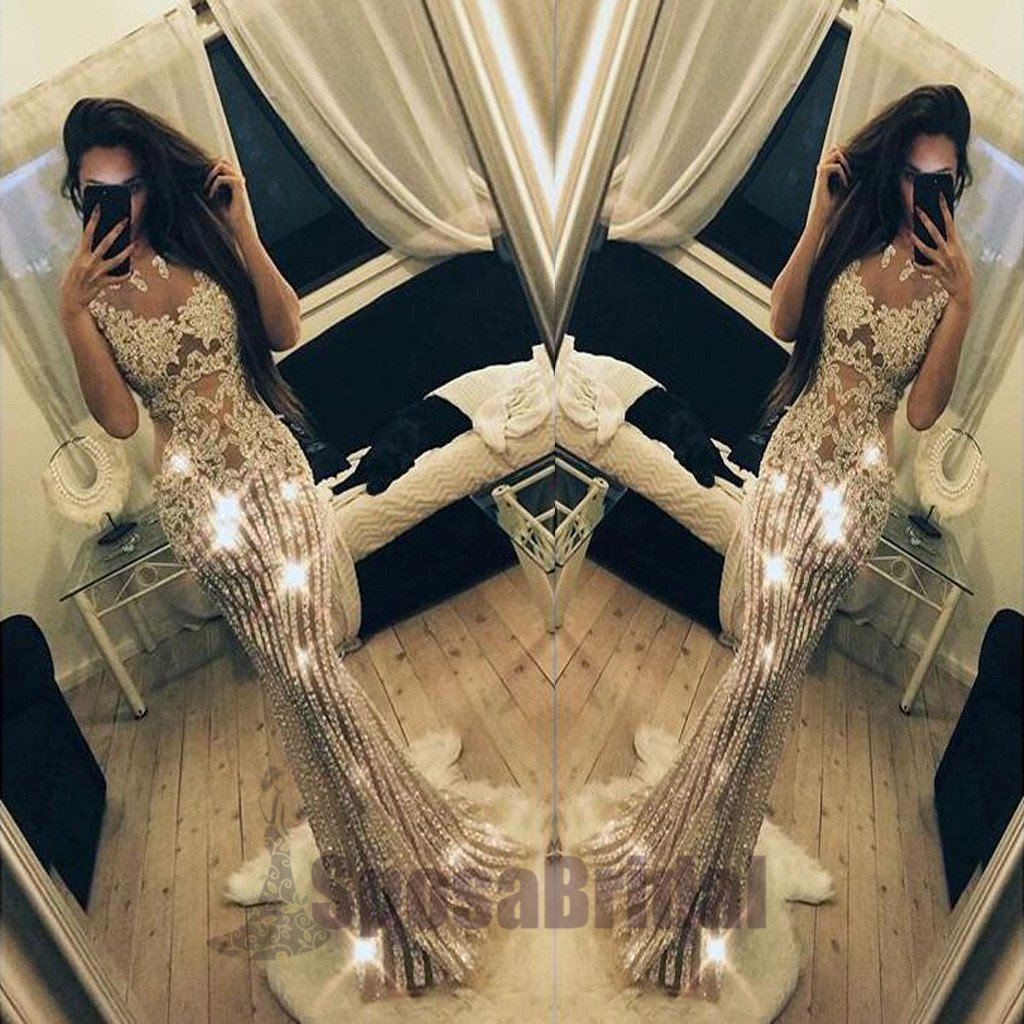 2019 Sparkly Beading Charming Fashion Stunning Gorgeous High Quality Prom Dresses, Evening dresses, PD0593 - SposaBridal