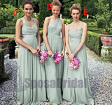 Cheap Long Most Popular Simple Off shoulder Formal Bridesmaid Dress,  WG212 - SposaBridal