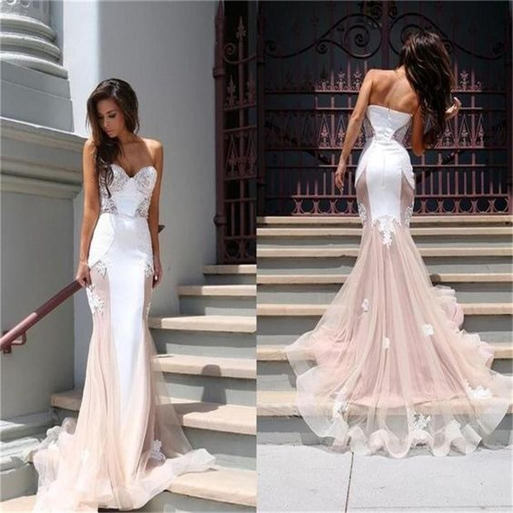 Sweetheart Sleeveless Mermaid Unique New Design Popular Bridesmaid dresses ,prom dress , PD0248