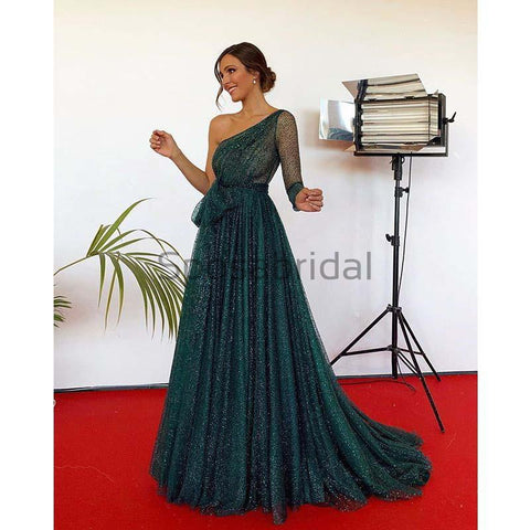 products/A-Line_Green_Sequin_Tulle_One_Shoulder_Modest_Sparkly_Long_Prom_Dresses_1.jpg