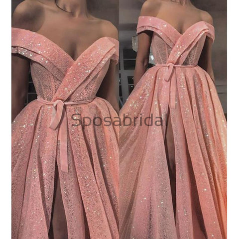 products/A-Line_Pink_Sparkly_Side_Slit_Off_the_Shoulder_Formal_Long_Prom_Dresses_1.jpg