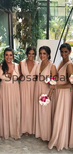 A-line Cheap Hot Sale Simple Long Beach Formal Bridesmaid Dresses WG842