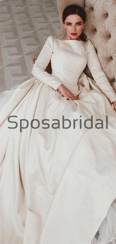 products/A-lineLongSleevesSatinElegantVintagePrincessWeddingDresses_1.jpg
