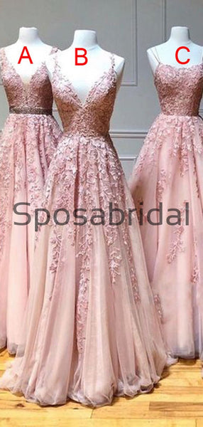 A-line Mismatched Lace Most Popular Modest Long Prom Dresses, PD2261