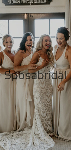 A-line Mismatched Most Popular Beach Long Bridesmaid Dresses WG804