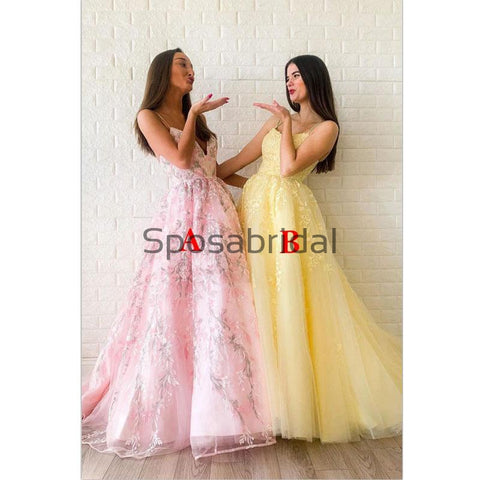 products/A-lineStrapsYellowPinkLaceModestFormalLongPromDresses_2.jpg