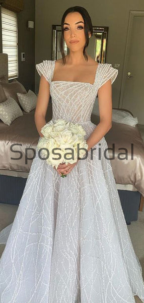 A-line Unique Dream Simple Vintage Wedding Dresses, Ball Gown WD0484