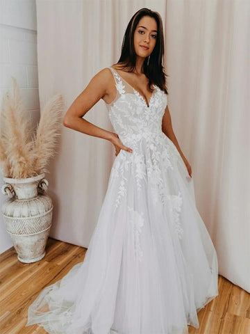 products/A-lineV-NeckLaceVintageLongWeddingDresses_1.jpg