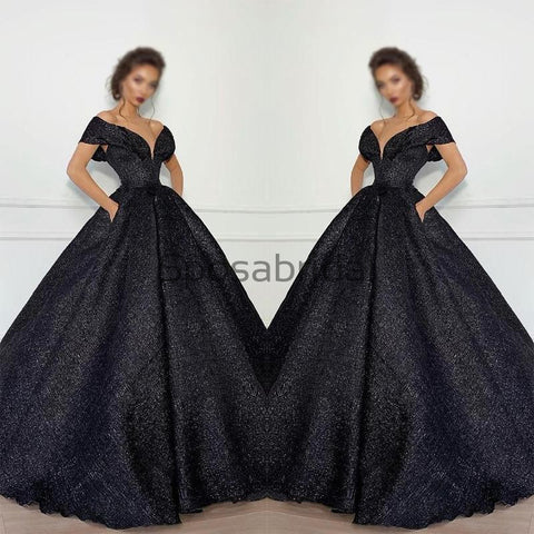 products/A-line_Black_Sparkly_Off_the_Shoulder_V-Neck_Gorgeous_Fashion_Prom_Dresses_1.jpg