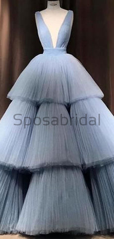products/A-line_Blue_Tulle_Deep_V-Neck_Unique_Modest_Gorgeous_Long_Prom_Dresses_Ball_gown_2.jpg