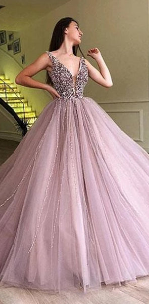 A-line Elegant Sparkly Gorgeous Princess Prom Gown, Purple Stunning Prom dresses, wedding gown,PD0137
