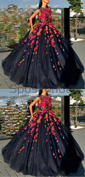 A-line Gorgeous Custom Made Popular Modest Long Prom Dresses, Ball gown PD1518