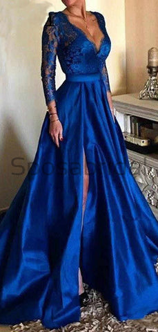 products/A-line_Long_Sleeves_Royal_Blue_Satin_Lace_Formal_Vintag_Long_Prom_Dreses_2.jpg