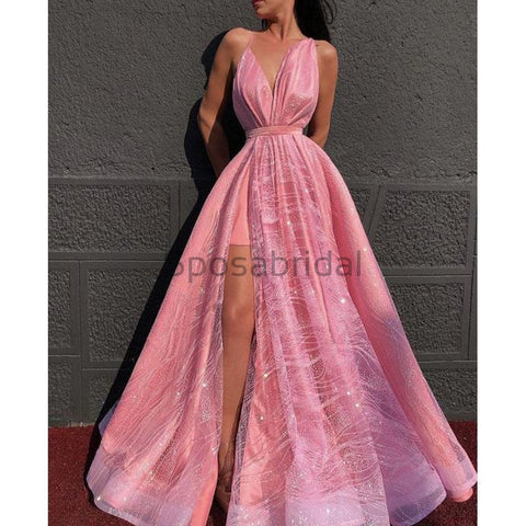 products/A-line_Pink_Spaghetti_Straps_Side_Slit_Unique_Modest_Gorgeous_Long_Prom_Dresses_1.jpg