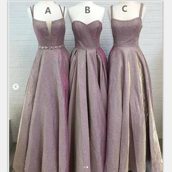 A-line  Long Modest Prom Dresses, Gorgeous Newest Mismatched Bridesmaid Dresses,PD1021 - SposaBridal