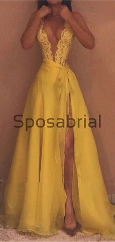 products/A-line_V-Neck_Lace_Yellow_Unique_Hot_Sale_Prom_Dresses_1.jpg