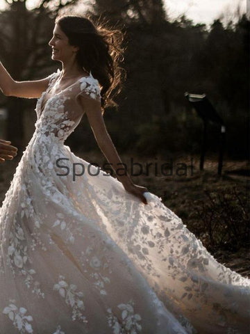 products/ALineIvoryVNeckCountryWeddingDresseswithAppliques_BeachWedding_1.jpg