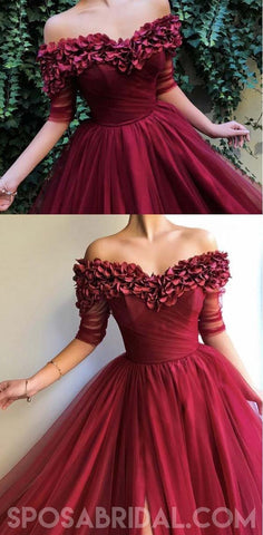 products/A_Line_Off_The_Shoulder_Burgundy_Tulle_Prom_Dresses_With_Appliques_Split_Evening_Dress_4.jpg