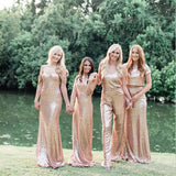 Affordable Mismatched Sequin Sparkly Most Popular Bridesmaid Dresses, Modest Bridesmaid Dress WG560