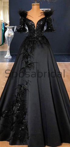 products/Black_Off_the_Shoulder_A-line_Satin_Elegant_Modest_Prom_Dresses_Party_Dress_1.jpg