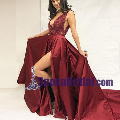 products/Burgundy_V_Neck_Lace_Applique_Side_Split_Sexy_Formal_Long_Prom_Dresses_Fashion_burgundy_evening_dress_2.jpg