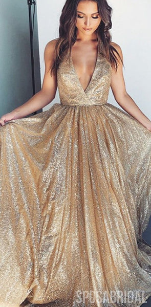 2020 Chamring  A-Line Sequin Sparkly Long Modest Hot Custom Made Vintage Prom Dresses, PD1310