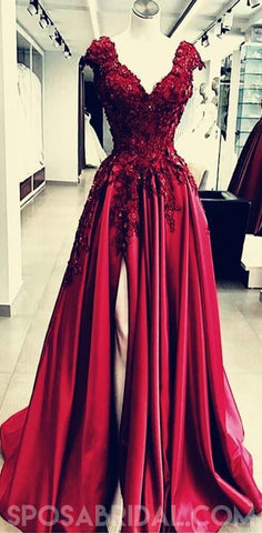 products/Chamring_Split_Side_Floor_Length_V-Neck_Burgundy_Prom_Dresses_with_Appliques_Flower.jpg