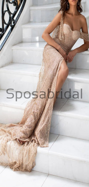 CharmingSparkly Unique New Side Slit Mermaid Sexy Modest Simple Prom Dresses, Prom dress PD1849