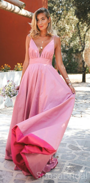 Charming Cheap Modest Spaghetti Straps Pretty High Quality Long Prom Dresses PD1251