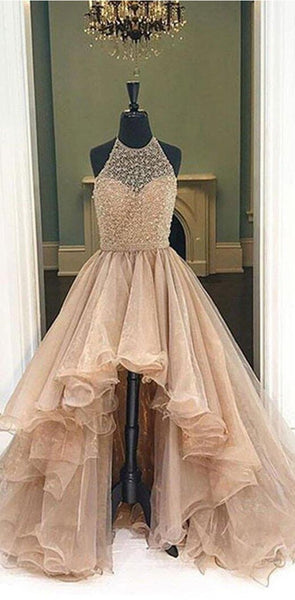 Charming Long High Gorgeous Most Popular Sleeveless New Arrival  Prom Dress , PD0336