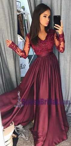 products/Charming_Long_Sleeves_V_neck_Top_Lace_Chiffon_Navy_Grey_Burgundy_Prom_Dresses_Evening_dress_PD0668.jpg