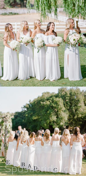 Charming Mismatched Chiffon Soft Inexpensive Simple Bridesmaid Dresses, Simple Bridesmaid dress, WG527
