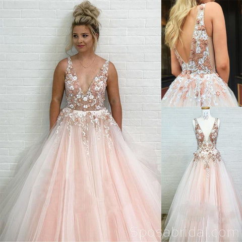 products/Charming_Modest_Pretty_Tulle_V-Neck_Princess_Pink_Long_Prom_Dresses_with_Appliques_2.jpg