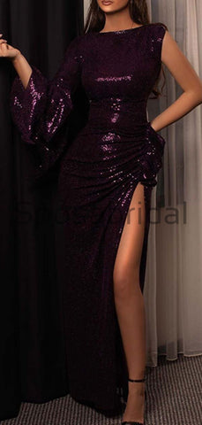products/Charming_One_Shoulder_Sequin_Purple_Side_Slit_Unique_Modest_Prom_Dresses_Evening_Dress.jpg