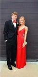 Charming Red Sexy Simple Popular Backless Charming Prom Dress, Evening Party Dress, PD0305