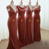 Cheap Mismatched Long Vevelt Popular Bridesmaid Dresses WG931