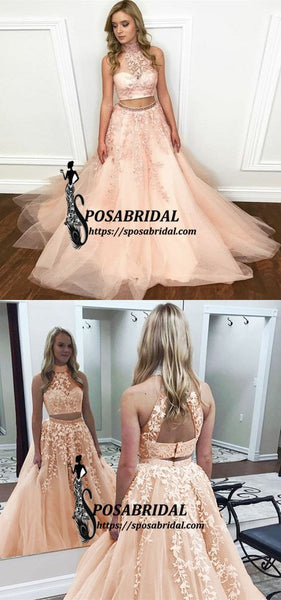 Cheap Charming Custom Two Pieces Most Popular Modest Prom Dresses, Party Evening dress, PD0652 - SposaBridal