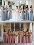 Cheap Chiffon Mismatched  Free Custom Floor-length High Quality A-line Bridesmaid Dresses, WG337 - SposaBridal