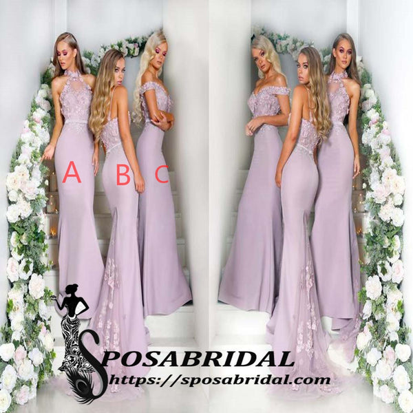 Cheap Custom Mermaid Long Mismatched Popular Modest Best Sale Bridesmaid Dresses Online,WG332