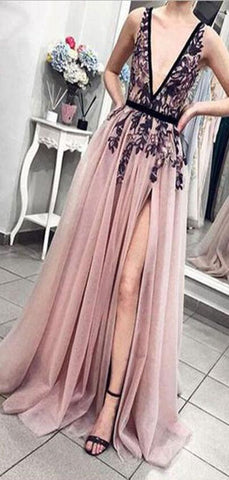 products/Cheap_Pink_V-Neck_Tulle_Lace_Long_Prom_Dresses_Charming_tulle_evening_dress_3.jpg