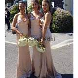 Cheap Spaghetti Straps Simple Mermaid Elegant Bridesmaid Dresses WG616