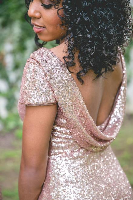 2019 Cheap Mismatched Sequin New Custom Formal Bridesmaid Dresses, Prom Dress, PD0370 - SposaBridal