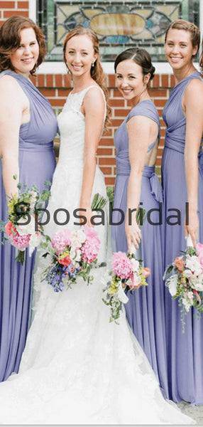 Convertible Most Popular Long Elegant Formal Bridesmaid Dresses WG854