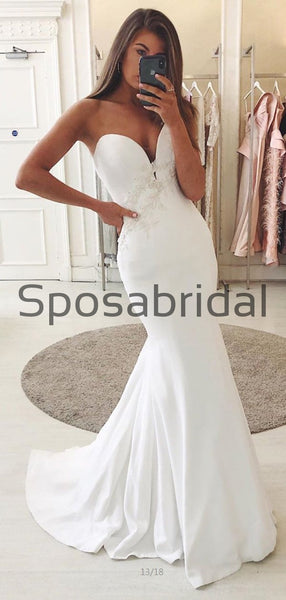 Country Satin Swetheart Mermaid Elegant Wedding Dresses, Prom Dresses WD0452