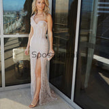 Custom One Shoulder Sparkly Mermaid Party Prom Dresses PD2309